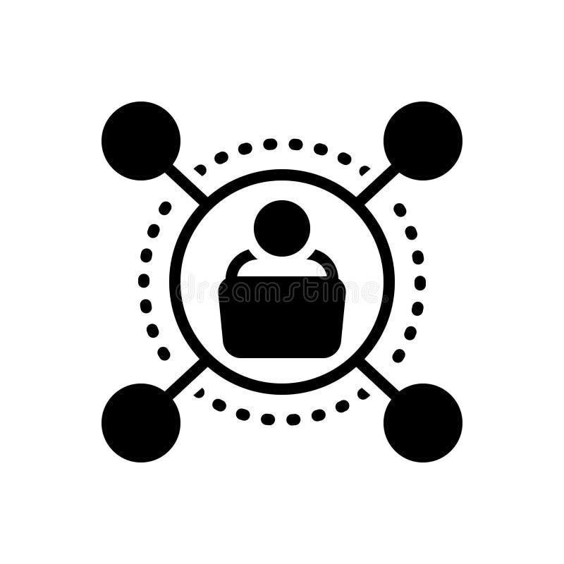 Icona solida nera per il sostenitore, il membro e i politicas illustrazione di stock