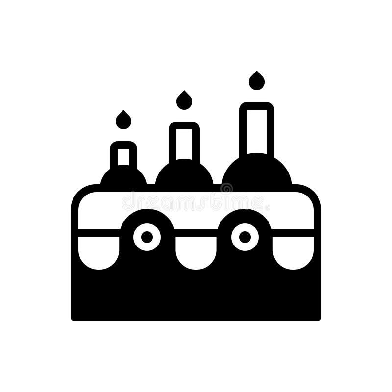 Icona solida nera per l'età, il periodo ed il tempo illustrazione di stock