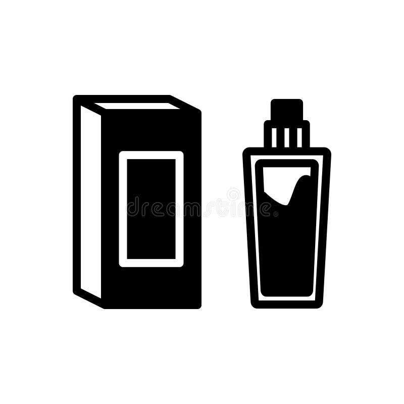 Icona solida nera per la base, il rivestimento e la bellezza illustrazione vettoriale
