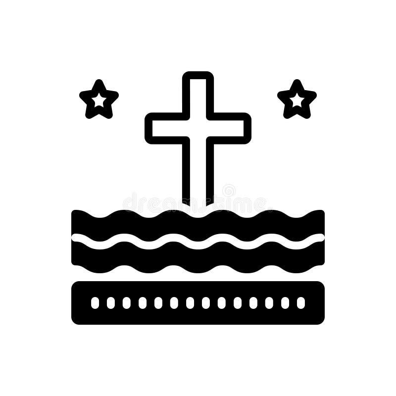 Icona solida nera per liturgia, il rituale ed il cattolico royalty illustrazione gratis