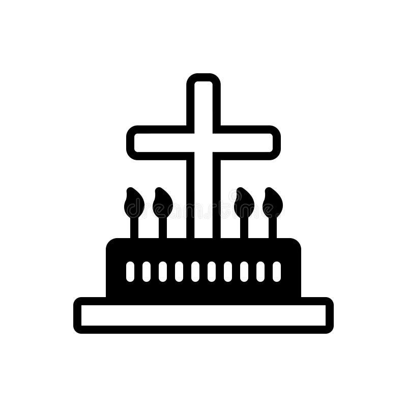 Icona solida nera per liturgico, liturgico e cattolico royalty illustrazione gratis