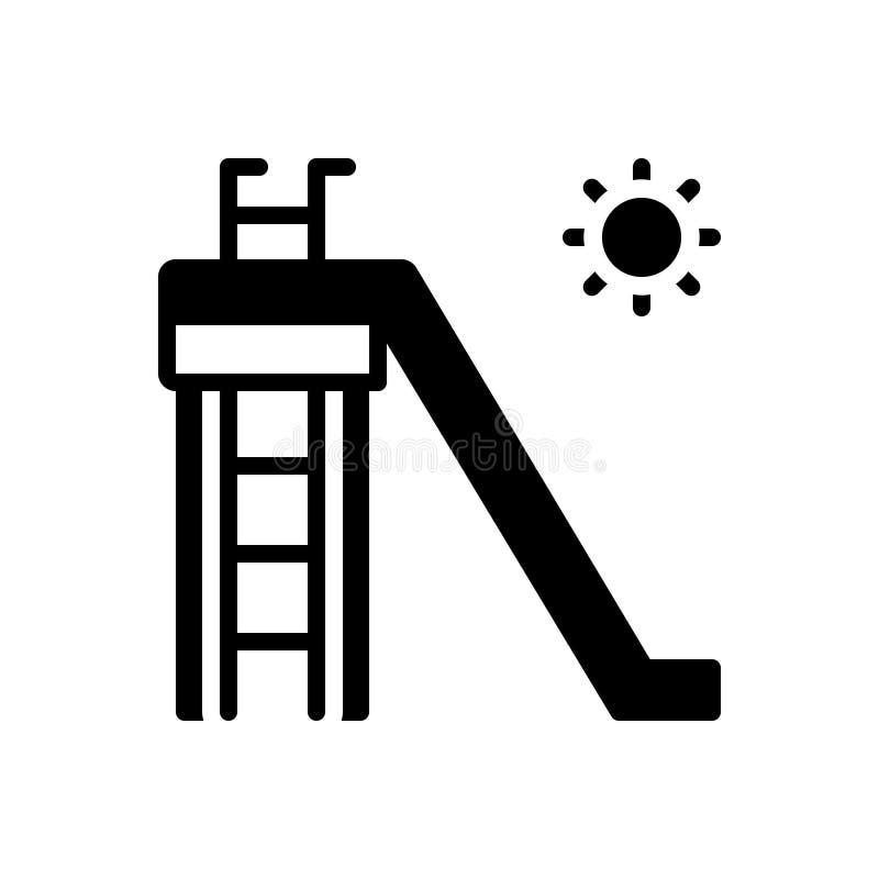Icona solida nera per lo scorrevole, la scivolata e slittare royalty illustrazione gratis