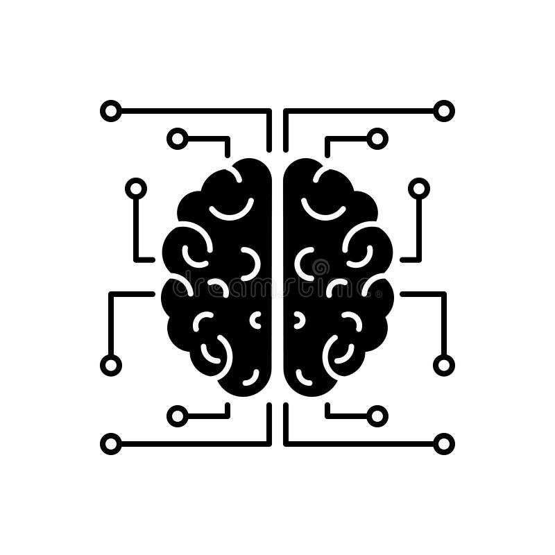 Icona solida nera per neurologia, il cervello e l'emicrania royalty illustrazione gratis