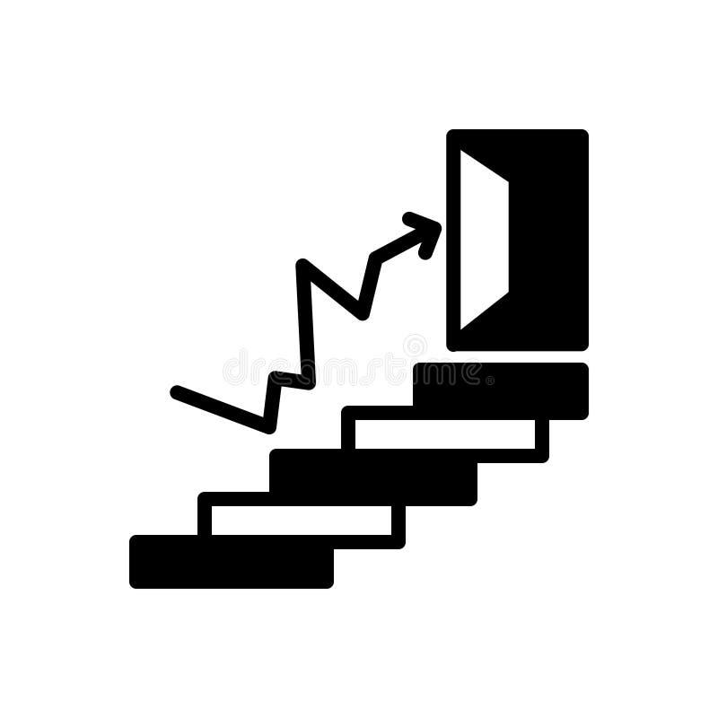 Icona solida nera per successo, la realizzazione e la prosperit? illustrazione vettoriale