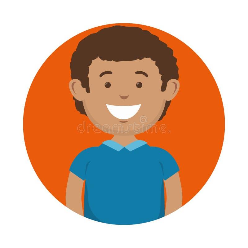 Icona sorridente dell'uomo illustrazione vettoriale
