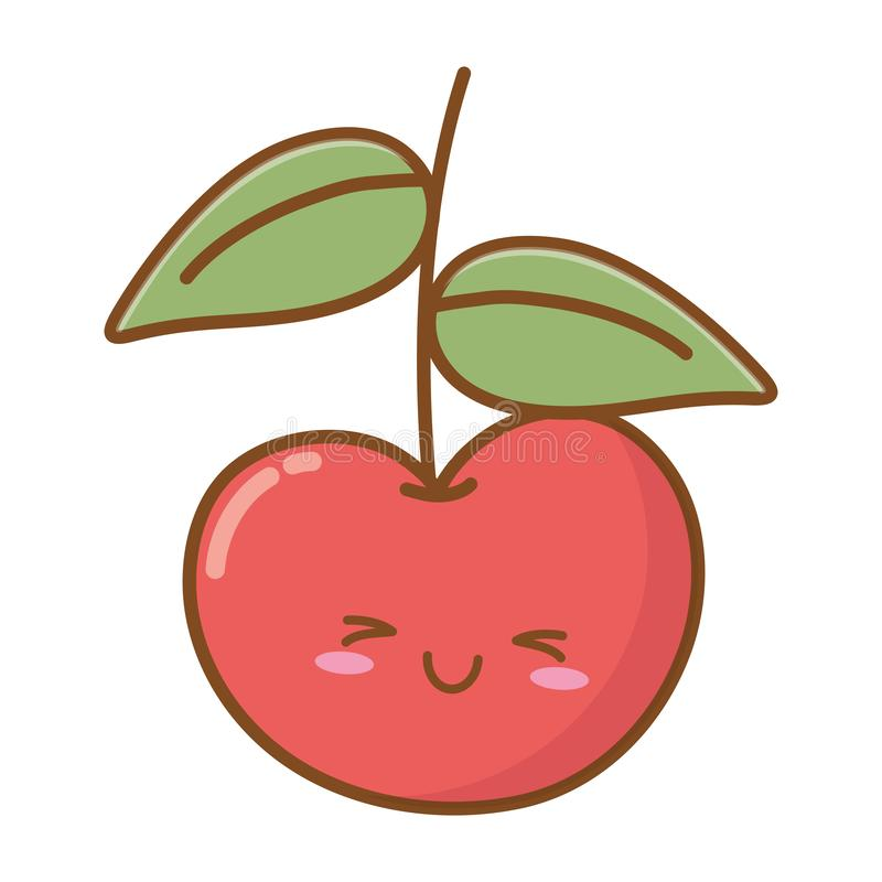 Icona sorridente della ciliegia illustrazione di stock
