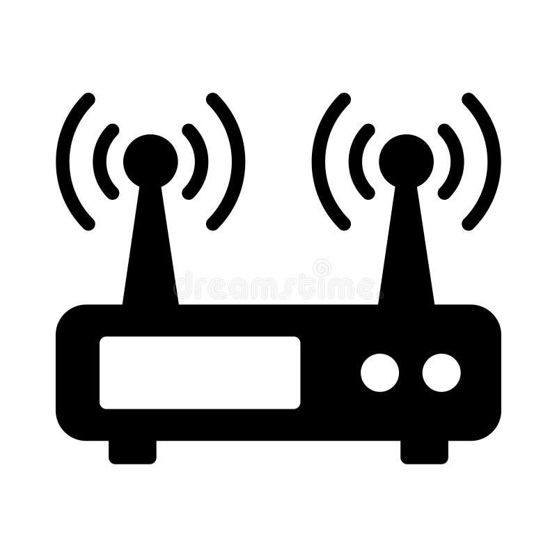 Icona sottile di vettore del linet del modem illustrazione vettoriale