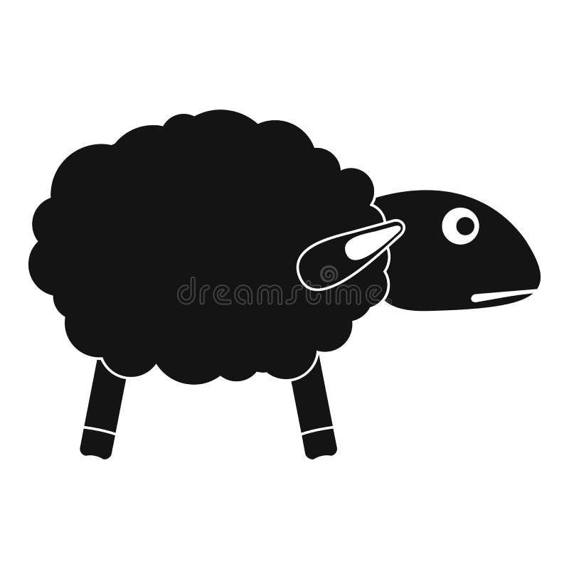 Icona spaventata delle pecore, stile semplice illustrazione vettoriale