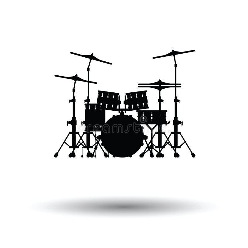 Icona stabilita del tamburo royalty illustrazione gratis