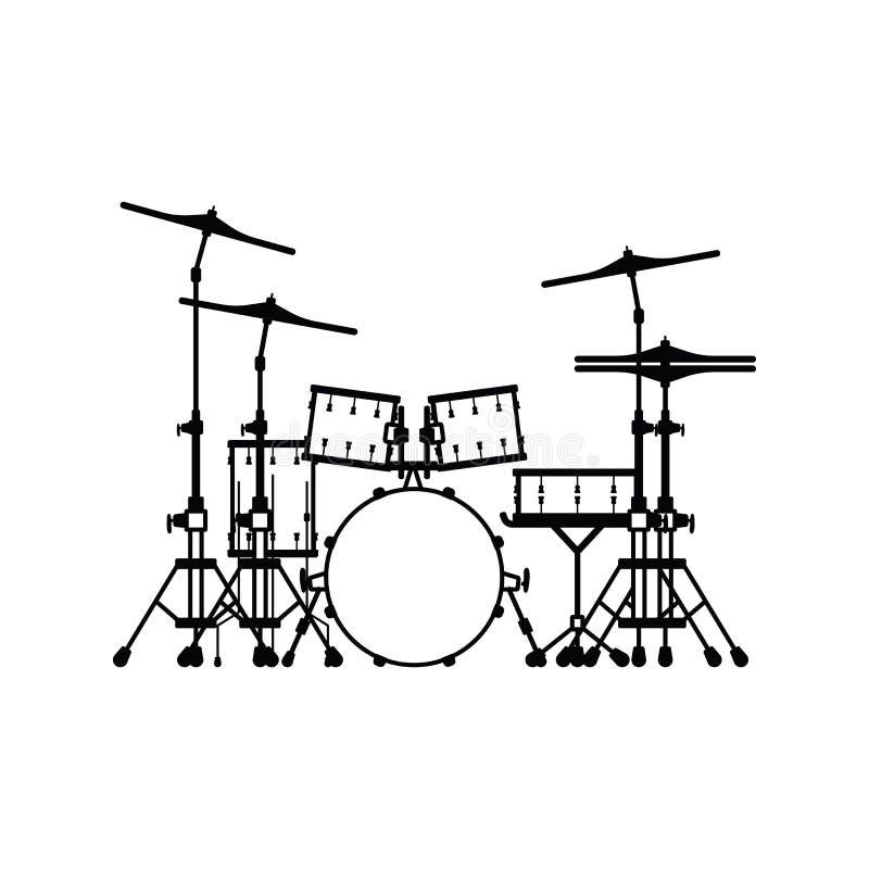 Icona stabilita del tamburo illustrazione vettoriale