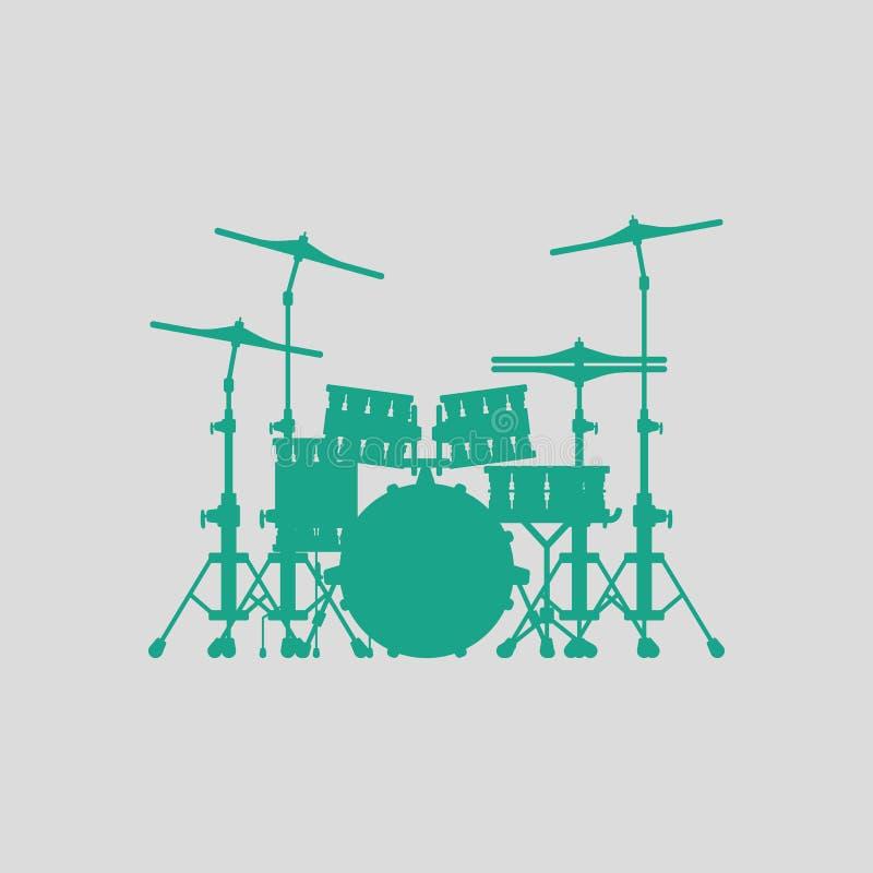 Icona stabilita del tamburo illustrazione di stock