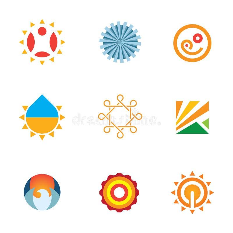 Icona stabilita di logo dell'ornamento della decorazione di arte della natura di creatività esclusiva illustrazione vettoriale