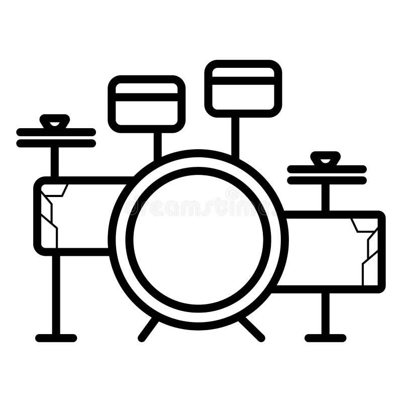 Icona stabilita di vettore del tamburo royalty illustrazione gratis