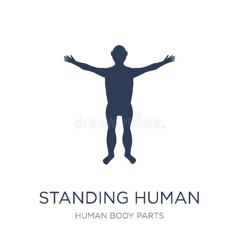 Icona stante del corpo umano Vettore piano d'avanguardia che sta corpo umano royalty illustrazione gratis