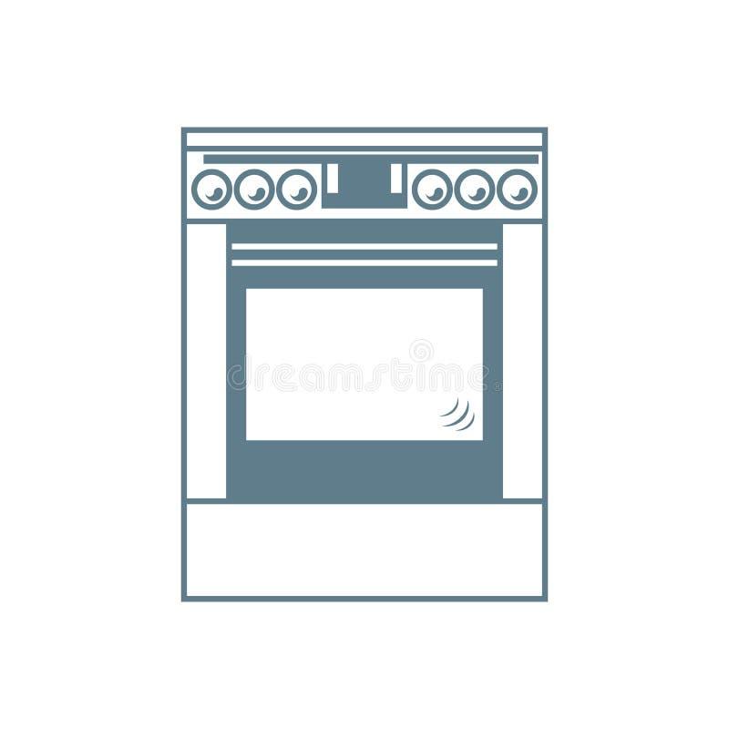 Icona stilizzata di un fornello colorato illustrazione vettoriale