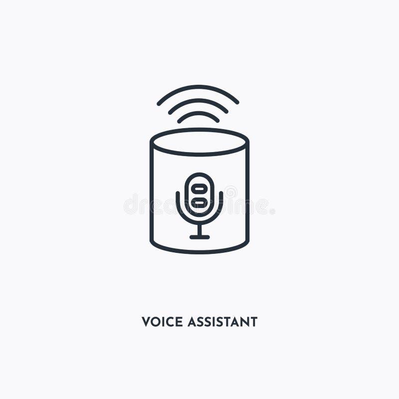 Icona struttura Assistente vocale Semplice illustrazione di elementi lineari Icona di Assistente vocale linea isolata su sfondo b royalty illustrazione gratis