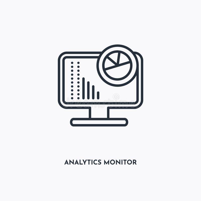 Icona struttura di Analytics Monitor Semplice illustrazione di elementi lineari Icona di monitoraggio analisi della linea isolata illustrazione vettoriale