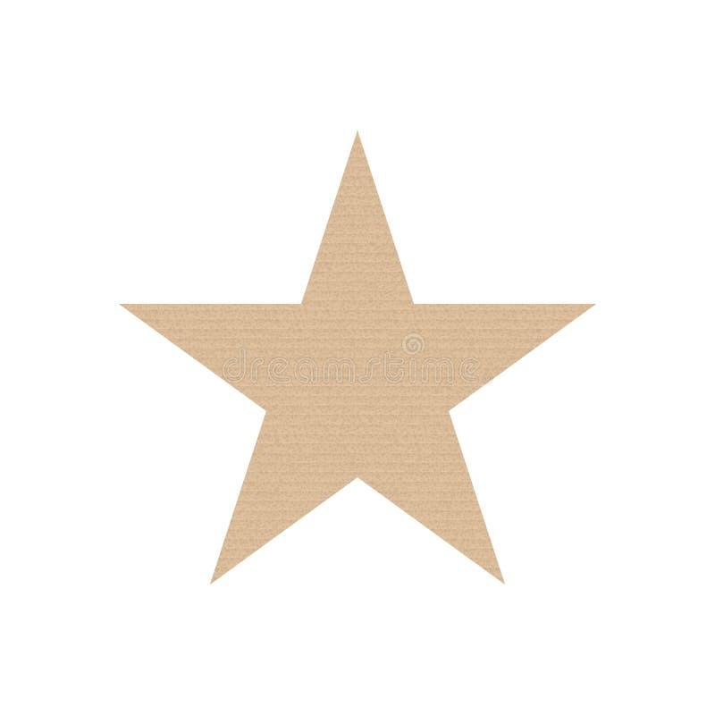 Icona strutturata della stella royalty illustrazione gratis