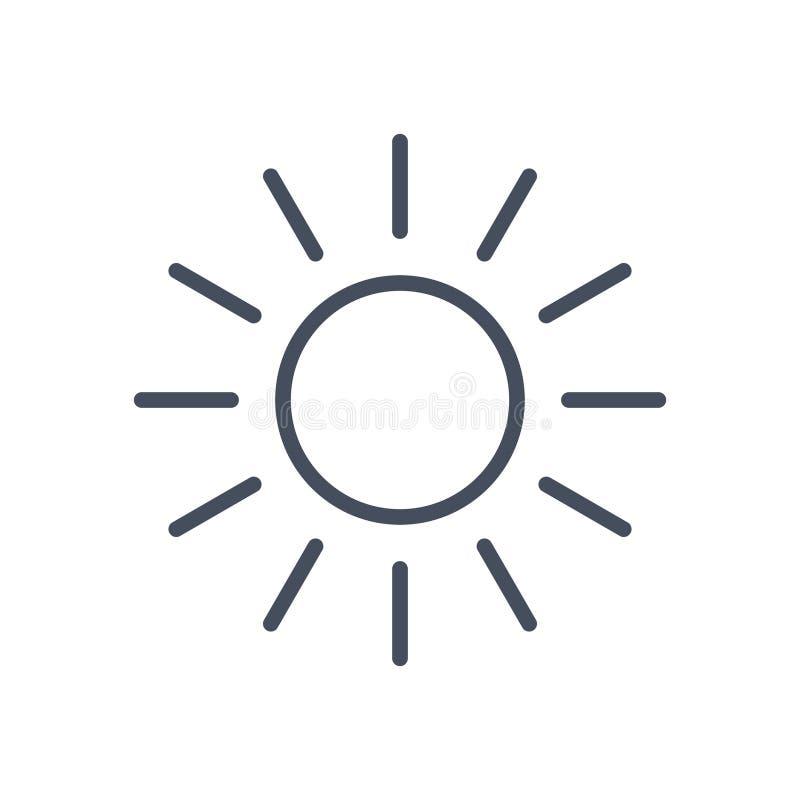 Icona Sunny Weather Concept Forecast Climate di Sun illustrazione vettoriale