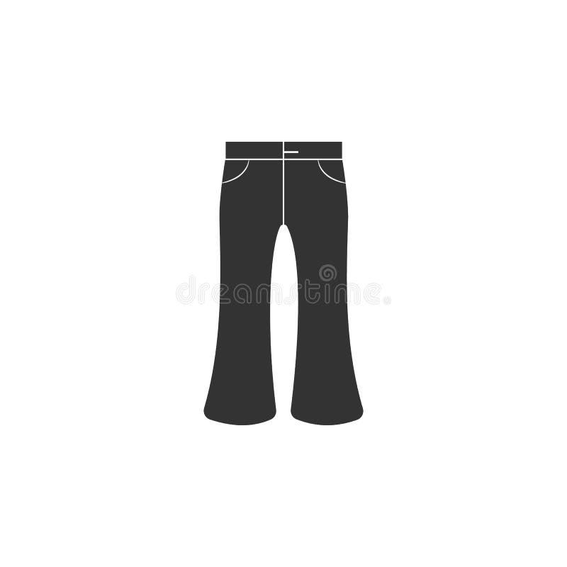 icona svasata dei jeans Elemento dell'icona dei jeans per i apps mobili di web e di concetto Il glifo si è svasato jeans che l'ic royalty illustrazione gratis
