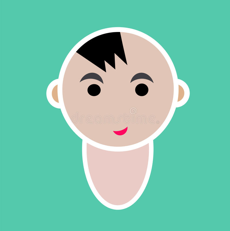 Icona sveglia del bambino illustrazione vettoriale
