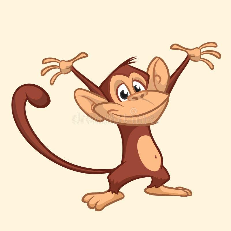 Scimmia Che Ride Disegno.Scimmia Del Fumetto Icona Felice Della Testa Della Scimmia Di