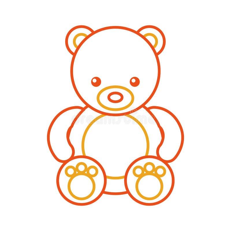 Icona sveglia dell'orsacchiotto dell'orso illustrazione vettoriale