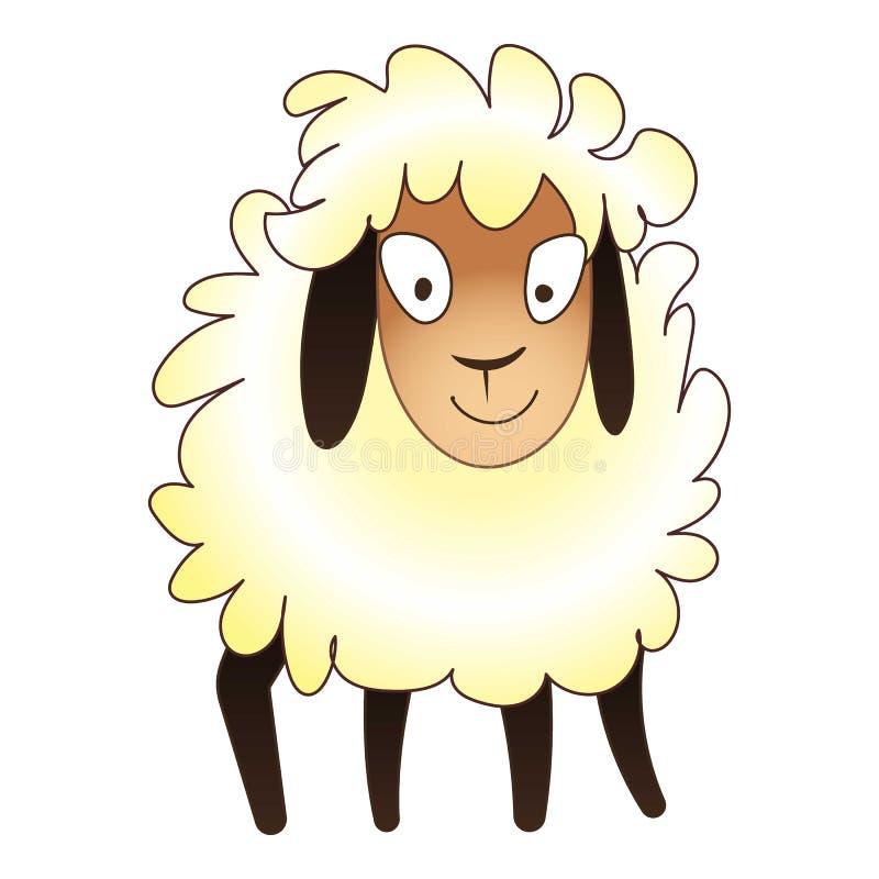 Icona sveglia delle pecore, stile del fumetto illustrazione di stock