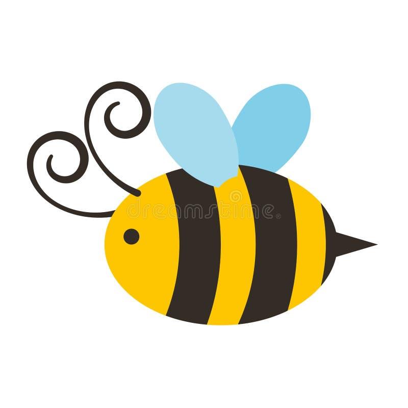 Icona sveglia di volo dell'ape royalty illustrazione gratis