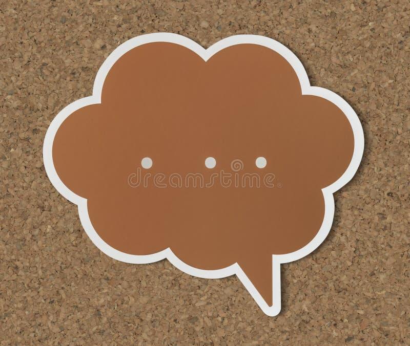 Icona tagliata fumetto di conversazione illustrazione vettoriale