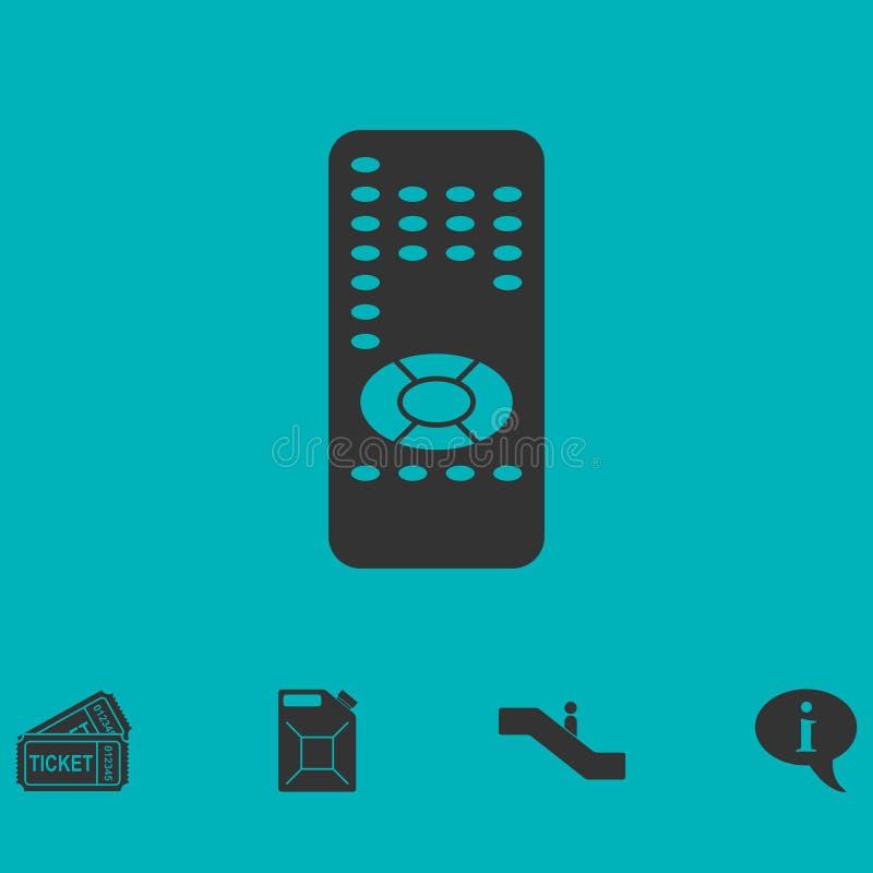 Icona telecomandata piana illustrazione di stock