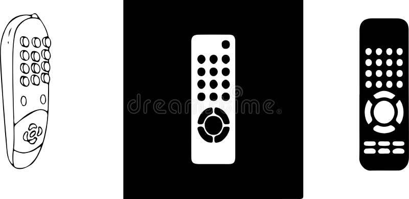 Icona telecomandata su fondo bianco illustrazione di stock