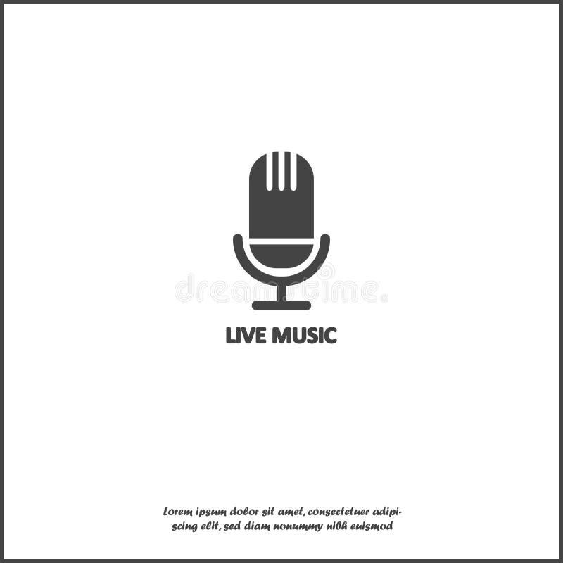 Icona in tensione di musicvector su fondo isolato bianco Strati raggruppati per l'illustrazione di pubblicazione facile royalty illustrazione gratis