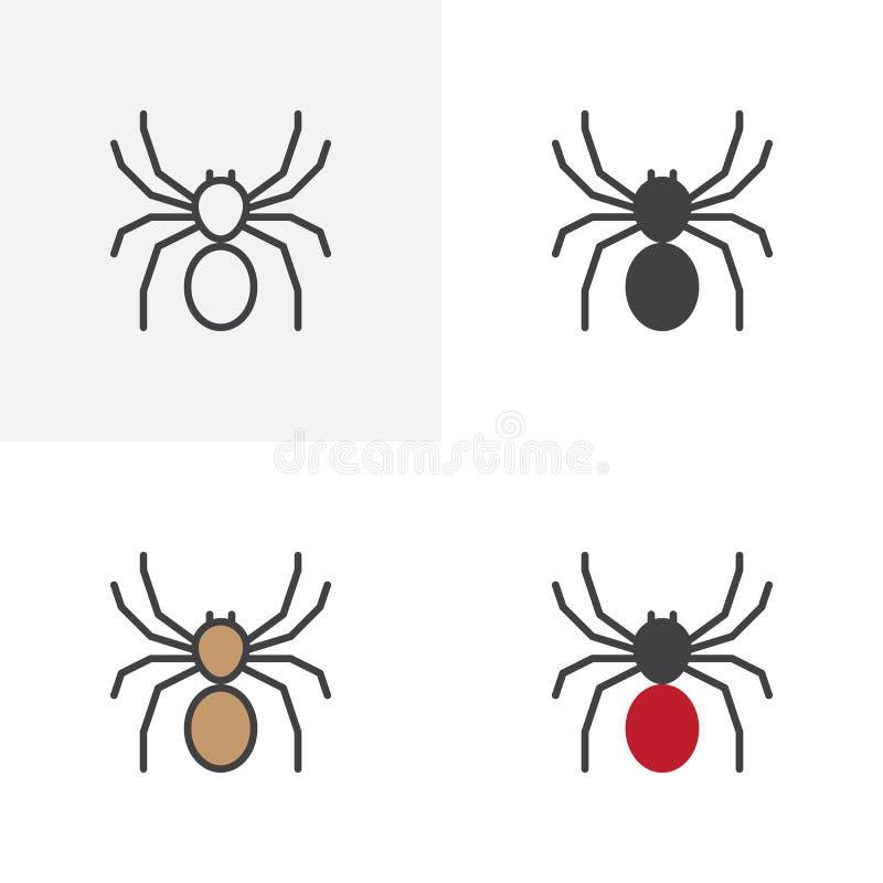 Icona tossica del ragno illustrazione vettoriale