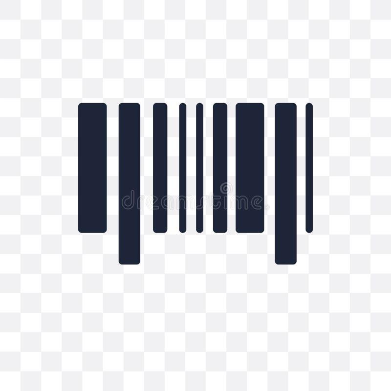 Icona trasparente al codice di Antivari Progettazione di simbolo di codice a barre dalla consegna royalty illustrazione gratis
