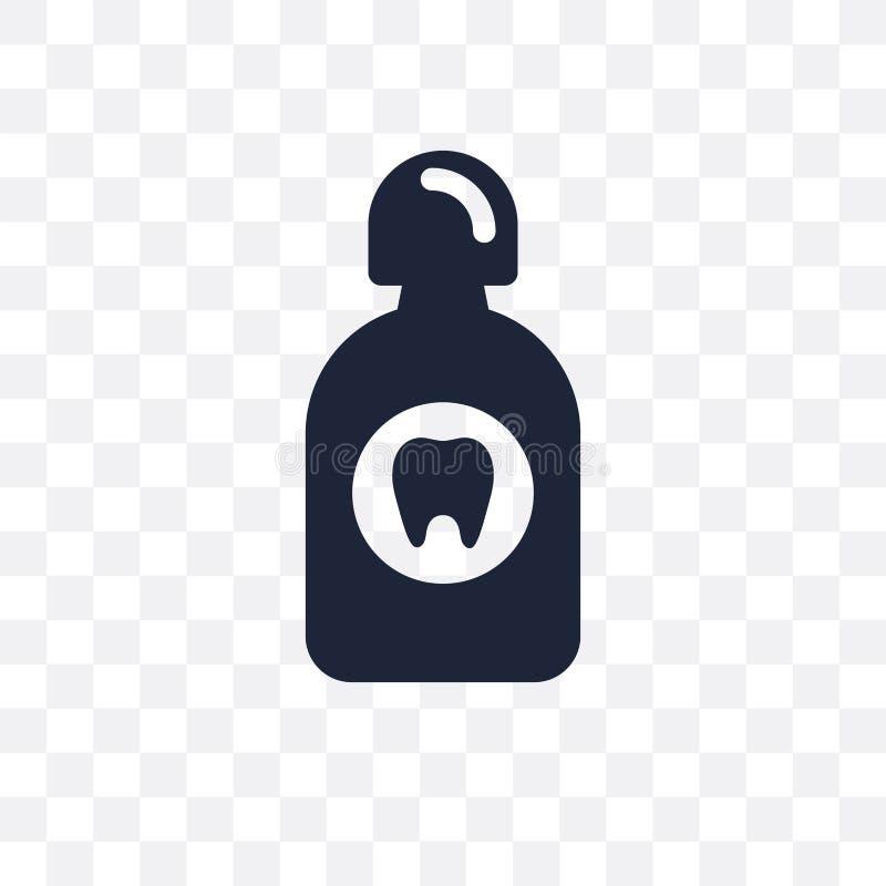 Icona trasparente del colluttorio Progettazione di simbolo del colluttorio da Denti illustrazione di stock