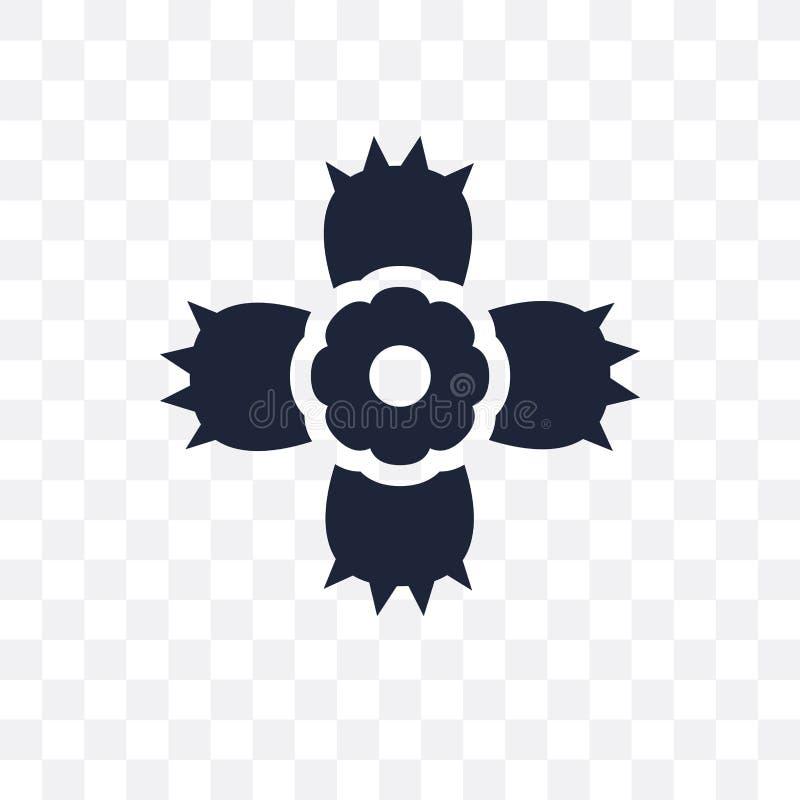 Icona trasparente del Dianthus Progettazione di simbolo del Dianthus dalla natura co illustrazione vettoriale