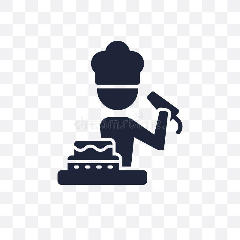 Icona trasparente del fornello Progettazione di simbolo del fornello dalle professioni c illustrazione di stock