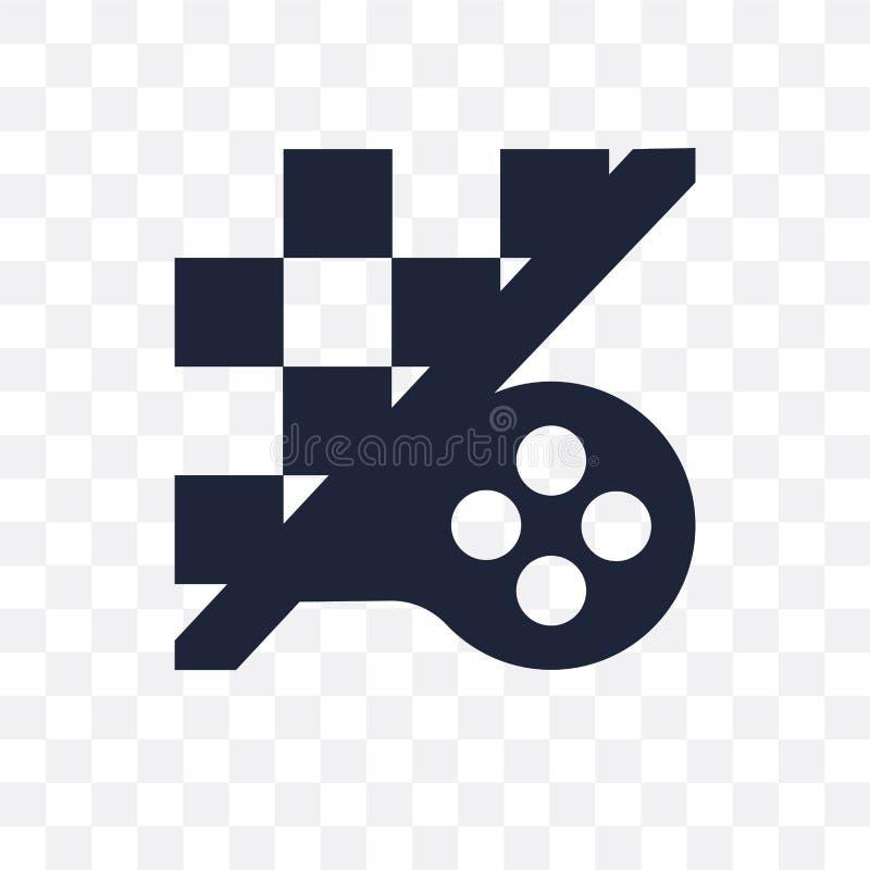 Icona trasparente del gioco di strategia Progettazione di simbolo del gioco di strategia da royalty illustrazione gratis