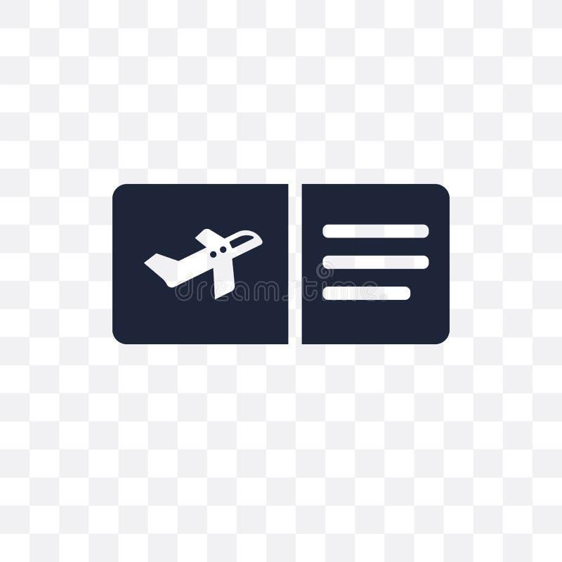 Icona trasparente del passaggio di imbarco Progettazione di simbolo del passaggio di imbarco da illustrazione di stock