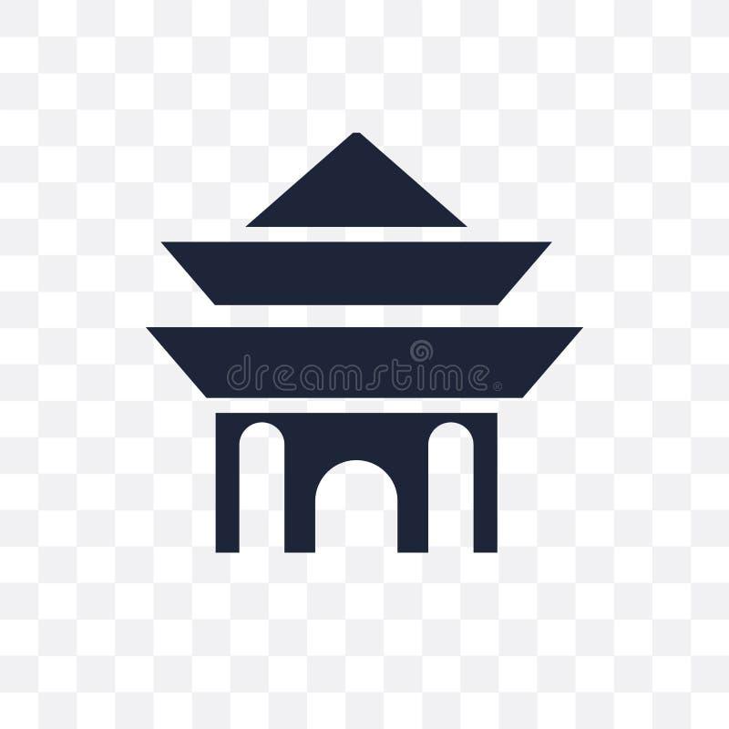 Icona trasparente del santuario Progettazione di simbolo del santuario dal coll di religione illustrazione vettoriale