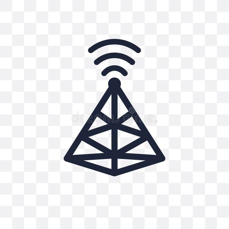 Icona trasparente del segnale Progettazione di simbolo del segnale dalla comunicazione illustrazione di stock