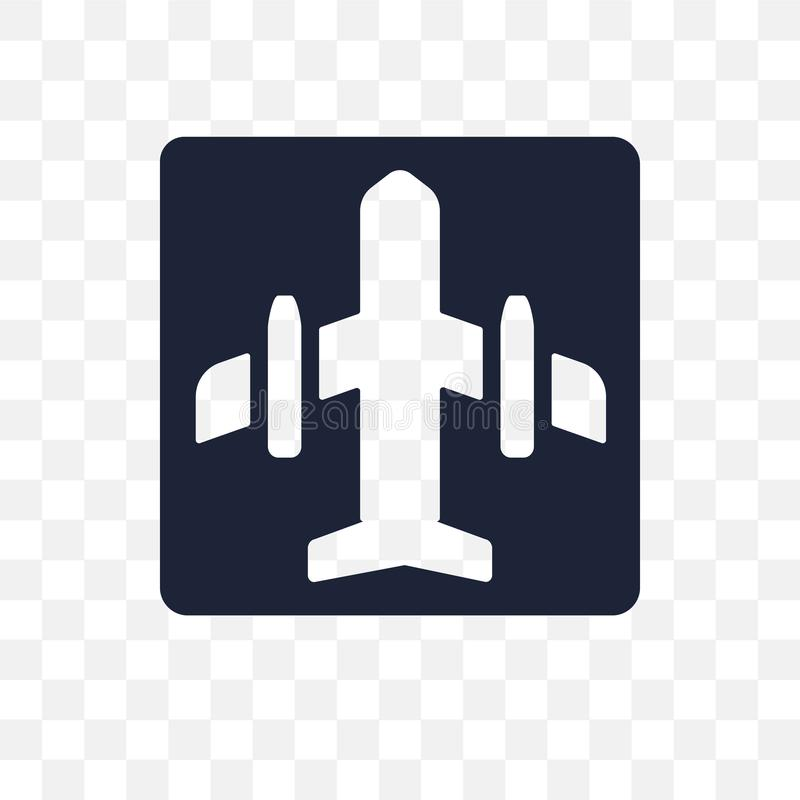Icona trasparente del segno dell'aeroporto Progettazione di simbolo del segno dell'aeroporto da T illustrazione vettoriale