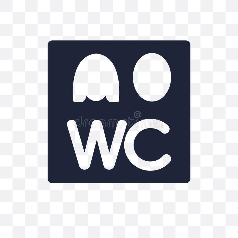 Icona trasparente del segno del Wc Progettazione di simbolo del segno del Wc dai sig di traffico royalty illustrazione gratis