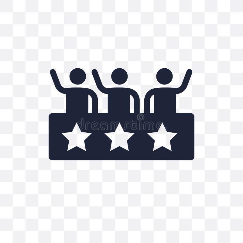 Icona trasparente del sostenitore Progettazione di simbolo del sostenitore da avveduto royalty illustrazione gratis