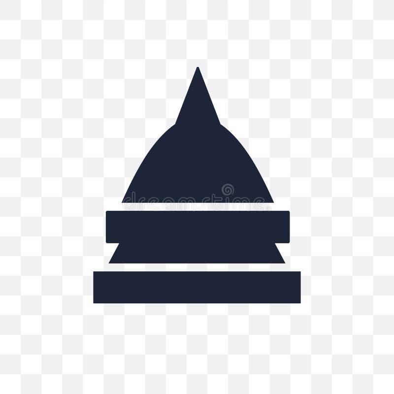 Icona trasparente del tempio Progettazione di simbolo del tempio dal coll di religione royalty illustrazione gratis