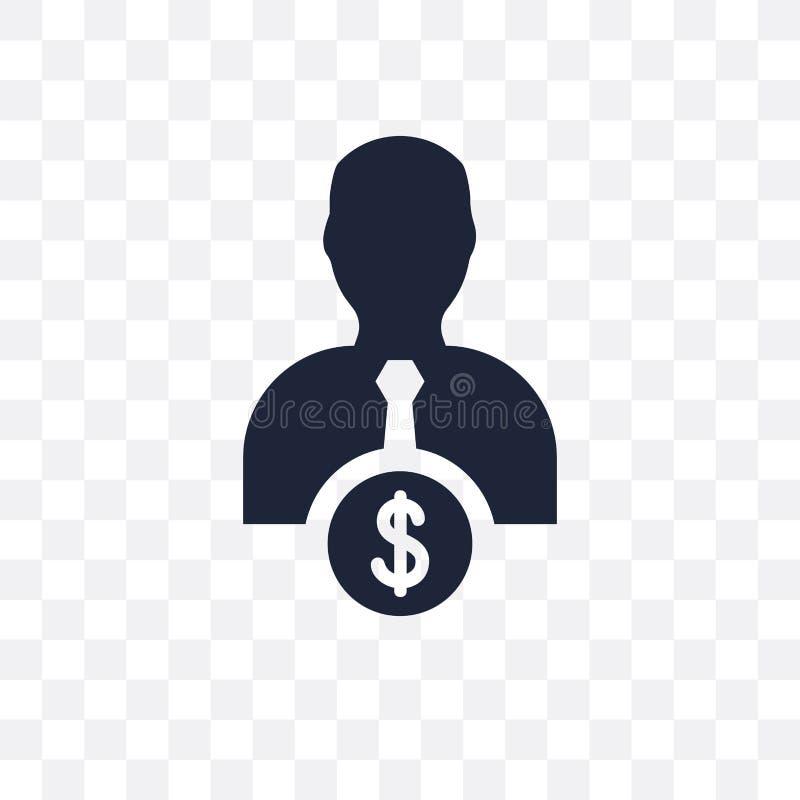 Icona trasparente del venditore Progettazione di simbolo del venditore dal passo di commercio elettronico illustrazione di stock