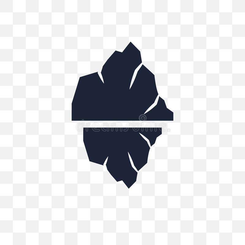 Icona trasparente dell'iceberg Progettazione di simbolo dell'iceberg dal coll di inverno royalty illustrazione gratis