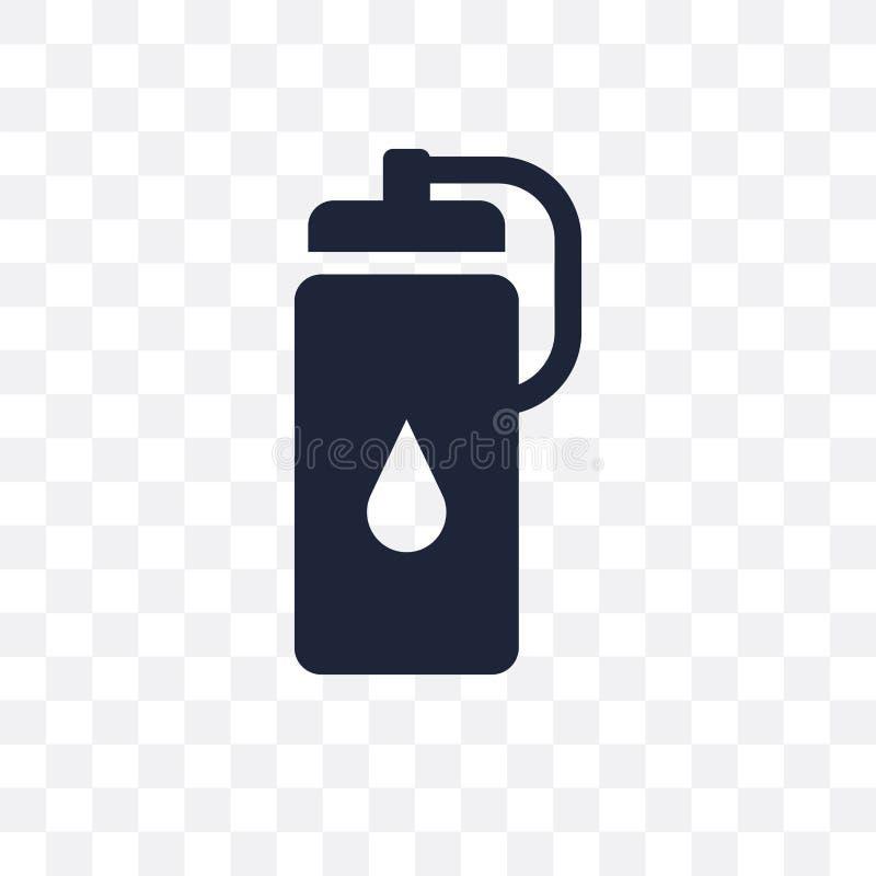 Icona trasparente della bottiglia di acqua Progettazione di simbolo della bottiglia di acqua dal G illustrazione di stock
