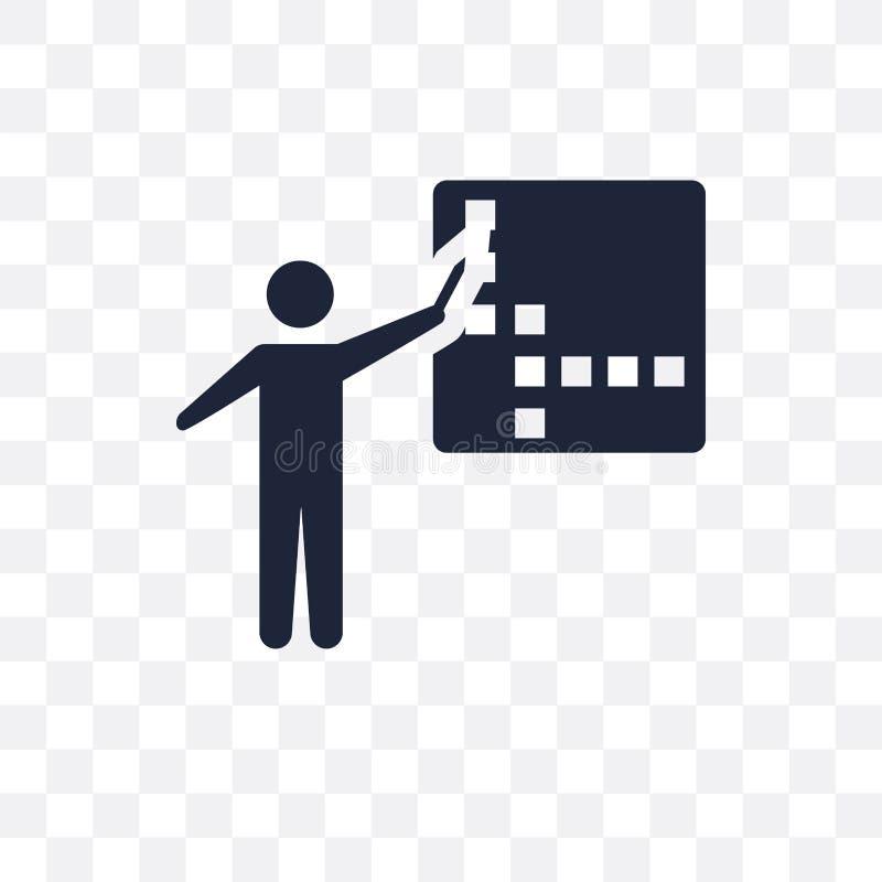 Icona trasparente delle parole incrociate Progettazione di simbolo delle parole incrociate da Activit illustrazione di stock